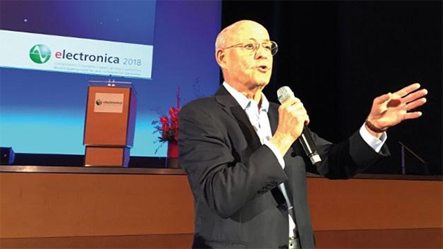 Mr. Rifkin gave the opening keynote address at Electronica, which is the world's leading trade fair and conference for electronics. More than 3,000 exhibitors and 80,000 – 90,000 visitors from all over the world meet in Munich every other year to showcase and discuss the latest developments in the world of electronics.